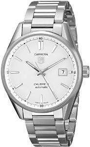 TAG Heuer Mens WAR211B.BA0782 Carrera Analog Display Swiss Automatic Silver Watch