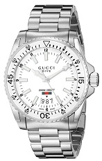Gucci Men's YA136302 Gucci Dive Analog Display Swiss Quartz Silver Watch