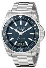 Gucci Men's YA136203 Gucci Dive Analog Display Swiss Quartz Silver Watch