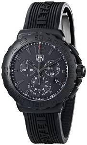 Tag Heuer Mens Formula 1 Black Dial Black Rubber Strap Chronograph Watch CAU1114.FT6024