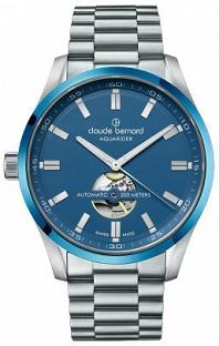 Claude Bernard Men's 85026 3MBU BUIN Aquarider Analog Display Swiss Automatic Silver Watch