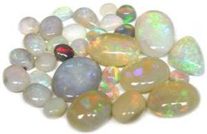 Multi-color Australian Loose Opal Gemstones