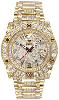 17.00 ctw Magnum Automatic Diamond Watch with Skeleton Back For Men