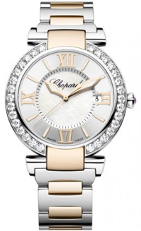 Chopard Imperial Silver Dial Steel and Rose Gold Automatic Mens Watch