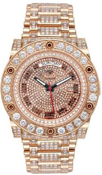Men's Magnum Automatic Diamond Watch with Skeleton Back 17.00 ctw