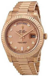 Rolex Day-Date II Champagne Dial Automatic 18K Rose Gold President Mens Watch