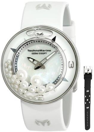 AquaSphere Crystal Authentic Pearls Dial Watch Set