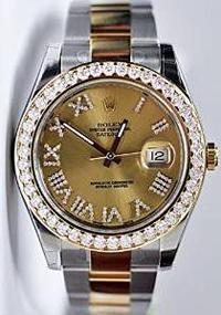 Rolex Steel Yellow Gold 3.50 CT Diamond Dial Watch