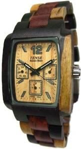 Tense Inlaid Natural Wood Sandalwood Mens Watch