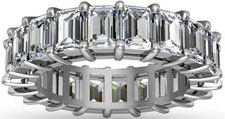 5.00 ct Emerald Cut Diamond Eternity Wedding Band Ring in Platinum