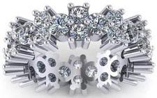 5.00 ct Ladies Round Cut Diamond Eternity Wedding Band Ring in Platinum