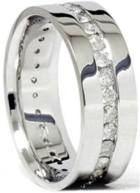 Mens 1.50CT Diamond Eternity Comfort Wedding Band Ring