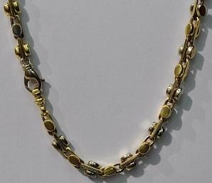 14kt Yellow & White Gold Men's Chain