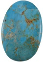 Natural Turquoise Oval 85.5 Cts loose Gemstone