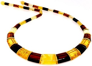 Certified Natural Baltic Amber Necklace Collar