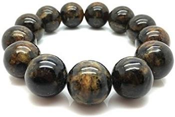 Natural Baltic Amber Bracelet Dark Marble Colour