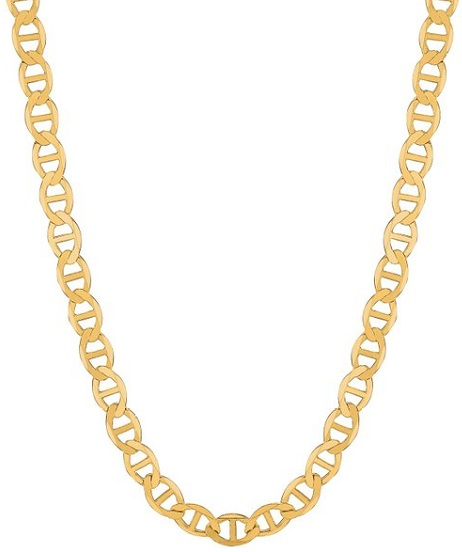 14k Solid Yellow Gold Anchor Mariner Chain necklace 4.5 Mm 8.3 Grams 20 Inches