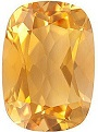 Faceted Loose Natural Antique Cushion Shape Citrine Gemstone