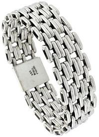 Sterling Silver Large Handmade Pantera Type Bracelet