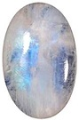 Natural Rainbow Moonstone Oval Cabochon Loose Gemstones
