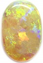 5 LOG 6.08 Ct. Natural Oval Cabochon Multi Color Australian Opal Loose Gemstone