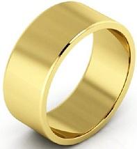 14k Yellow Gold Men's And Women's Plain Wedding Bands 8mm Light Flat