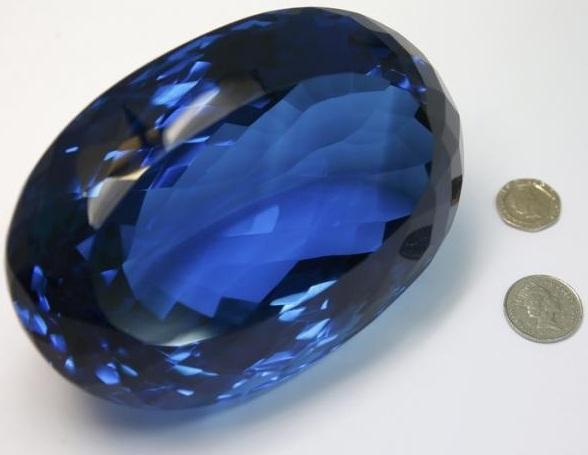 The Largest Known Ostro Blue Topaz Gemstone