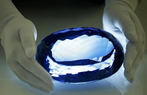 Ostro Blue Topaz Gemstone Displayed To Media