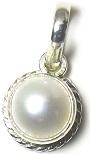Natural South Sea Pearl Pendant 6 Carat Original Sacha Motti 92.5 Sterling Silver