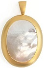 18K Yellow Gold and Mother of Pearl Renewal Pendant