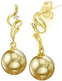 18K Gold Golden South Sea Cultured Pearl Aria Earrings
